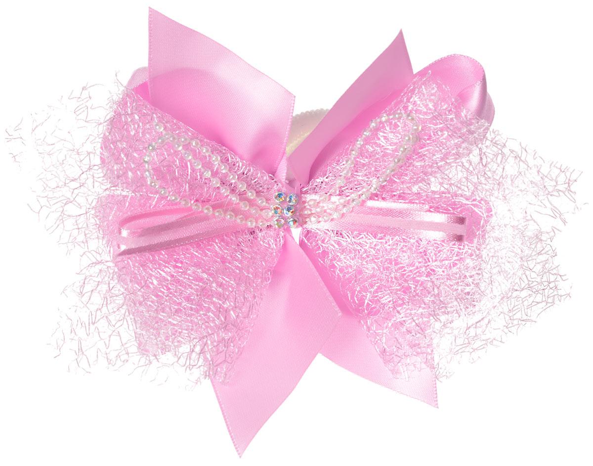 Babys Joy Бант цвет розовый MN 210MN 210_розовыйБант на резинке Babys Joy, выполненный из текстиля, украшен атласными лентами, бусинами и стразами. Бант позволит не только убрать непослушные волосы с лица, но и придать образу немного романтичности и очарования. Бант на резинке Babys Joy подчеркнет уникальность вашей маленькой модницы и станет прекрасным дополнением к ее неповторимому стилю.