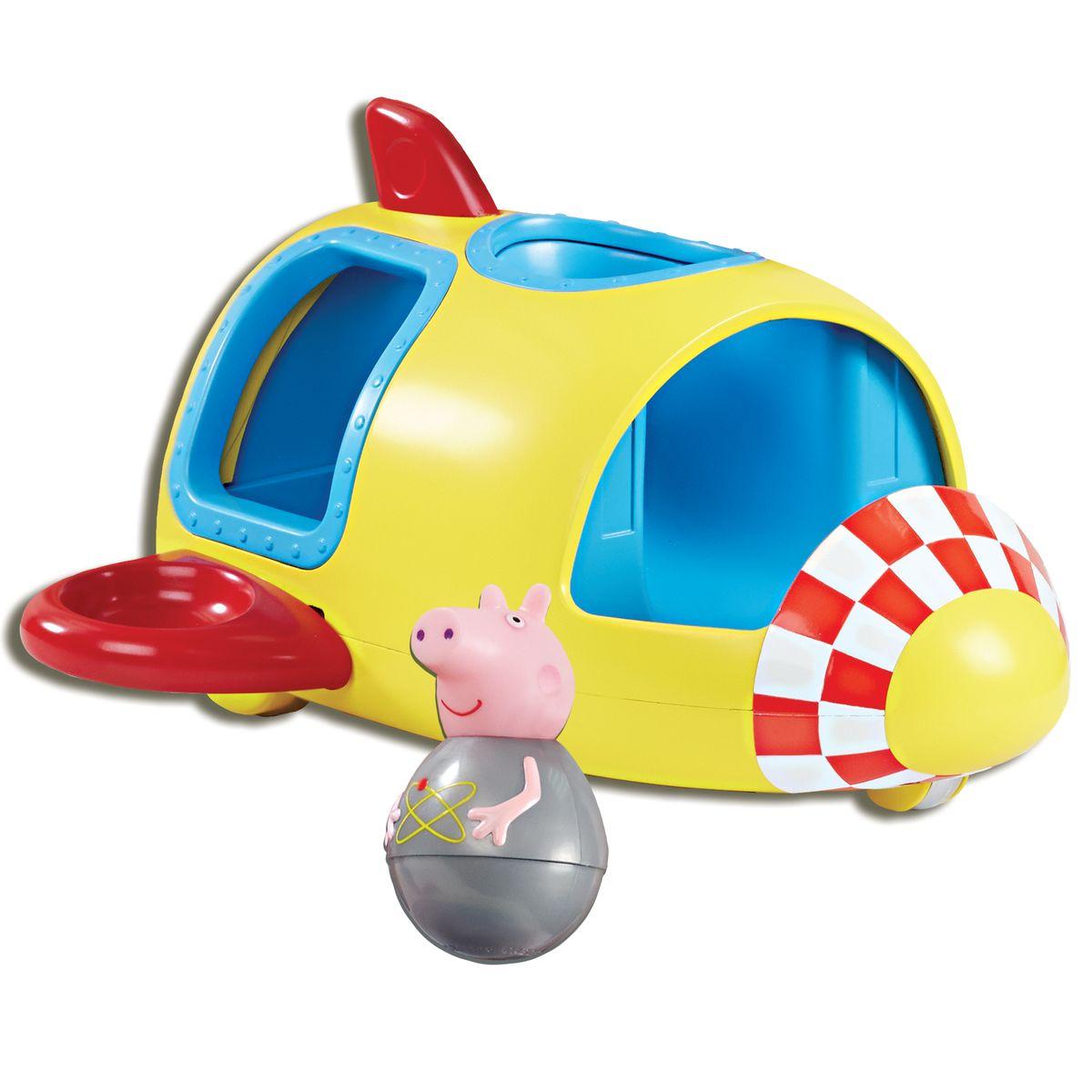 Peppa Pig Игровой набор Ракета Пеппы-неваляшки28796Приглашаем в космическое путешествие вместе с Пеппой-неваляшкой! В ее ракете 6 посадочных мест: 2 спереди, 2 сзади и 2 на крыльях. Ракета двигается на колесиках, забавно покачивая крыльями, а свинка на сидении вращается, покачивается, не выпадая. Покрутите неваляшку Пеппы на столе или полу, и она затанцует, закрутится, закачается в разные стороны и даже не подумает упасть. С таким набором ребятишкам не придется скучать. А чтобы игра стала еще интереснее, можно приобрести друзей Пеппы из этой же серии, чтобы они вместе отправились в космос. Игра развивает у малышей воображение, помогает им обмениваться знаниями и тренировать навыки общения.