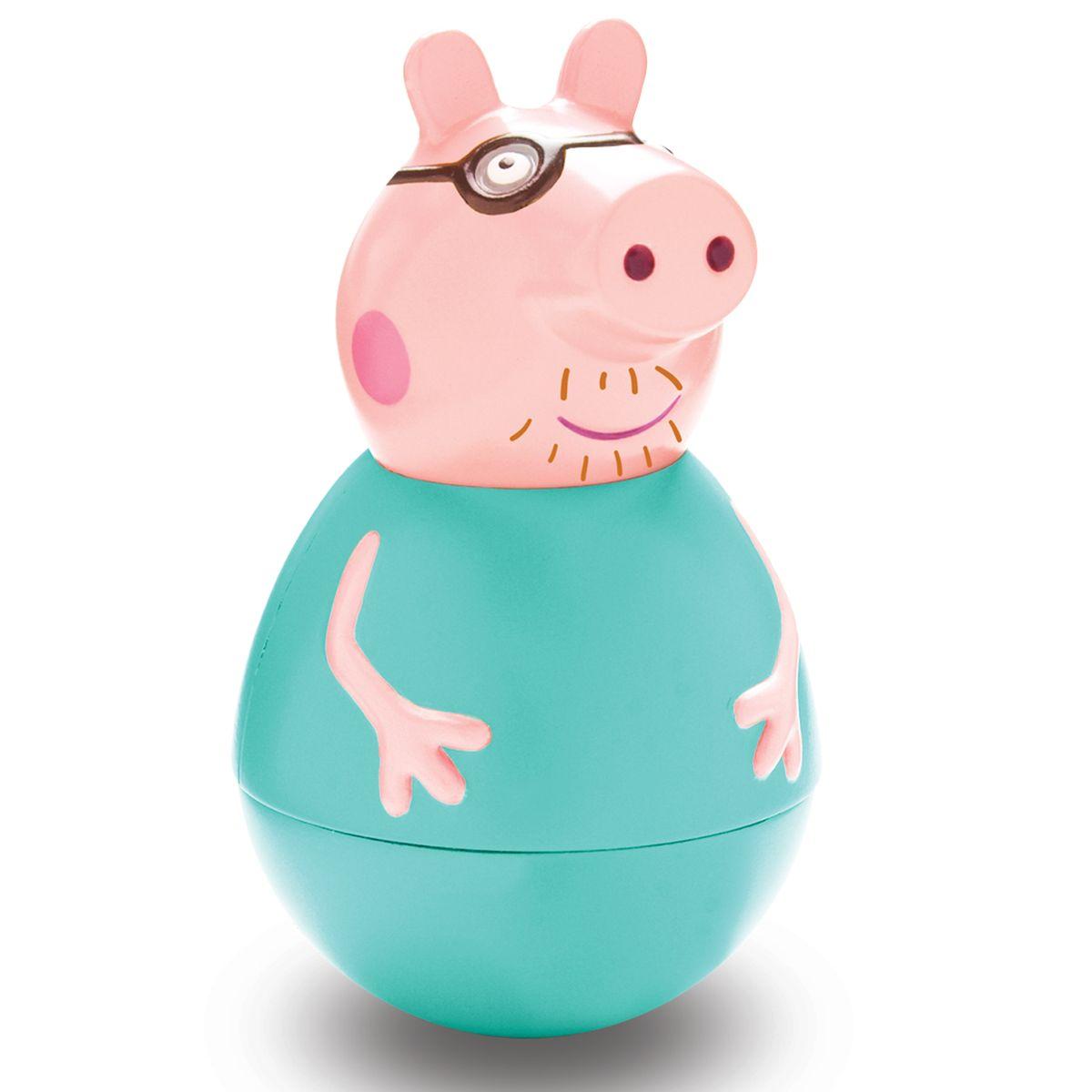 Peppa Pig Неваляшка Папа Пеппы28798Неваляшка Peppa Pig Папа Пеппы, созданная по мотивам мультсериала Peppa Pig привлечет внимание вашего малыша и станет для него любимой игрушкой. Качайте ее в разные стороны, а она никогда не упадет. Веселая игра с ней развивает у детей координацию движений, тренирует цветовосприятие и мышление. Соберите коллекцию неваляшек в виде любимых героев мультфильма «Свинка Пеппа» и устраивайте веселые игры с малютками!
