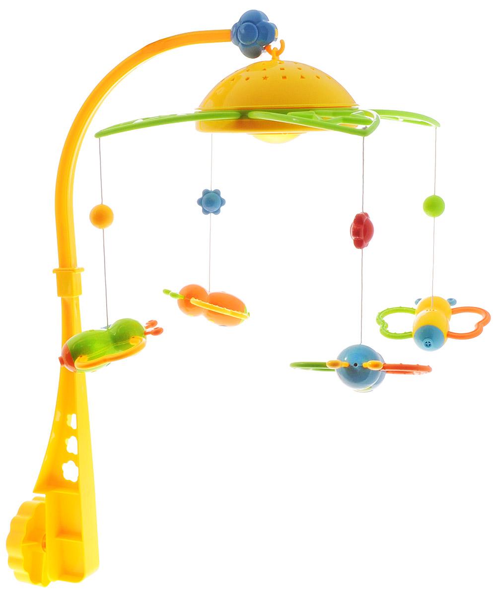 Mommy Love Музыкальная подвеска Карусель-бабочкиSL81001Музыкальная подвеска Карусель-бабочки совмещает функции проектора и музыкального мобиля. Подвеска Карусель-бабочки - прекрасное украшение для кроватки малыша. Он может играть в игрушки-подвески, ведь они легко снимаются с карусели. Эта игрушка поет приятные мелодии. Ночью ее можно использовать как проектор-ночник. Яркие и красочные детали Карусели порадуют малыша и создадут приятную атмосферу в детской комнате. Под мягким светом проектора малыш быстро заснет, слушая убаюкивающие мелодии звуки природы. Для работы необходимо 2 батарейки типа АА (не входят в комплект).