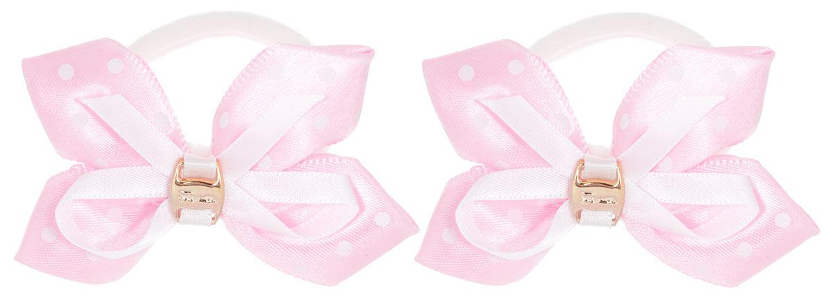 Baby's Joy Резинка для волос цвет розовый белый 2 шт MN 39/2