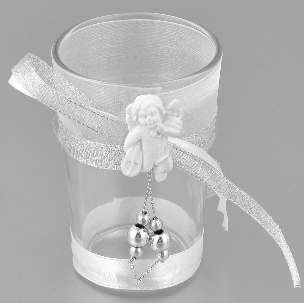 Подсвечник декоративный Феникс-презент Ангел с музыкальным инструментом, высота 8,5 см35318Декоративный подсвечник Феникс-презент Ангел с музыкальным инструментом, изготовленный из прочного стекла, декорирован фигуркой ангела и ленточкой. Такой подсвечник станет отличным выбором для тех, кто хочет сделать запоминающийся подарок родным и близким. Кроме того, он может хорошо вписаться в интерьер вашего дома или дачи.