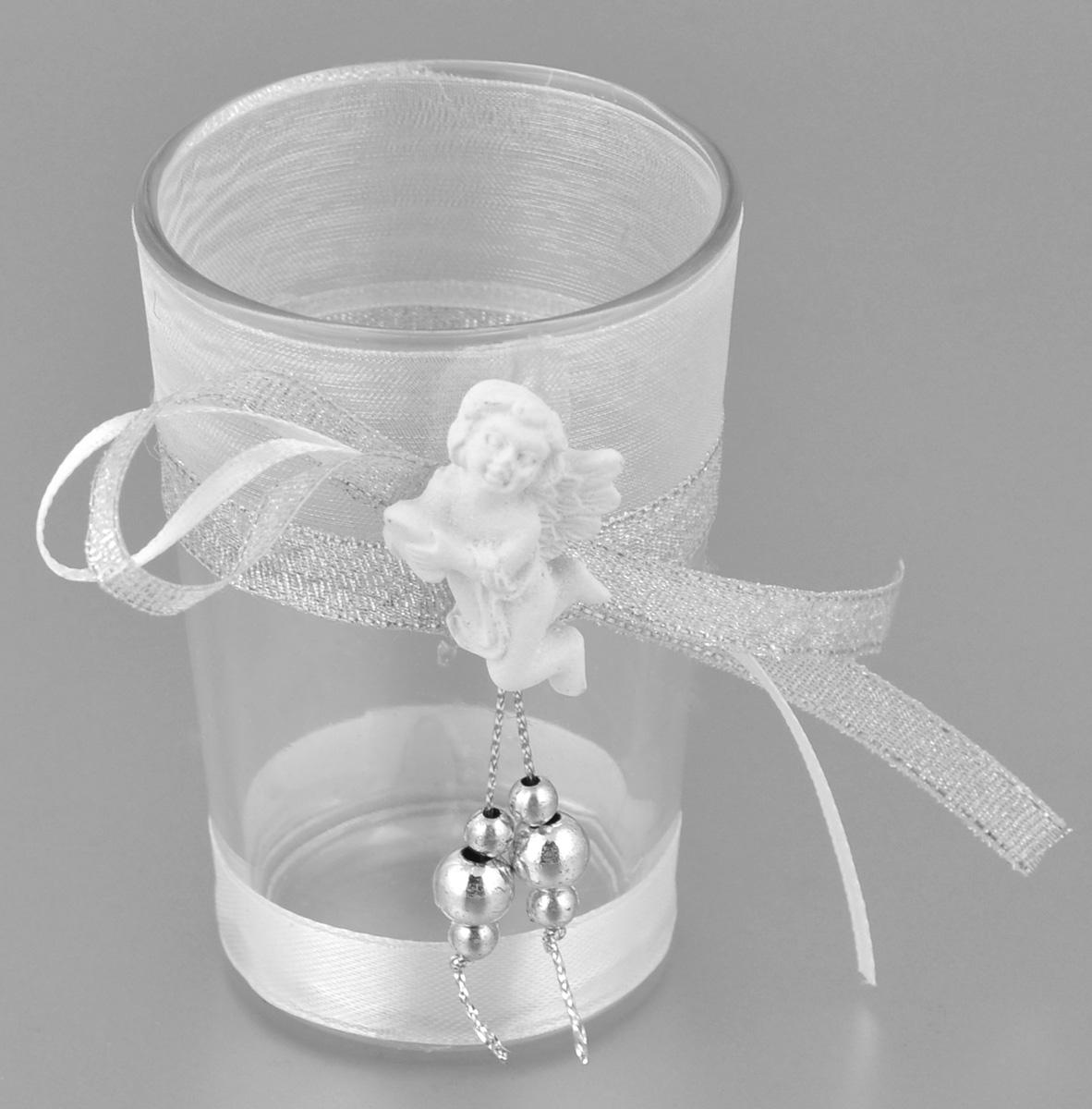 Подсвечник декоративный Феникс-презент Ангел, высота 8,5 см35320Декоративный подсвечник Феникс-презент Ангел, изготовленный из прочного стекла, декорирован фигуркой ангела и ленточкой. Такой подсвечник станет отличным выбором для тех, кто хочет сделать запоминающийся подарок родным и близким. Кроме того, он может хорошо вписаться в интерьер вашего дома или дачи.