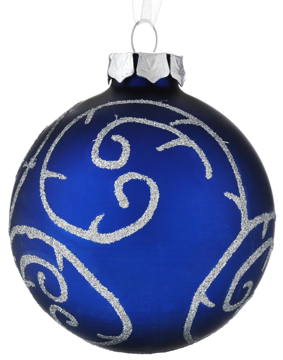 Новогоднее подвесное украшение Феникс-Презент Зимние узоры, диаметр 8 см30501Новогоднее украшение Феникс-Презент Зимние узоры отлично подойдет для декорации вашего дома и праздничной ели. Изделие выполнено из стекла в виде шара, декорированного оригинальными узорами из блесток, и оснащено текстильной петелькой для подвешивания. Елочная игрушка - символ Нового года. Она несет в себе волшебство и красоту праздника. Создайте в своем доме атмосферу веселья и радости, украшая всей семьей новогоднюю елку нарядными игрушками, которые будут из года в год накапливать теплоту воспоминаний.