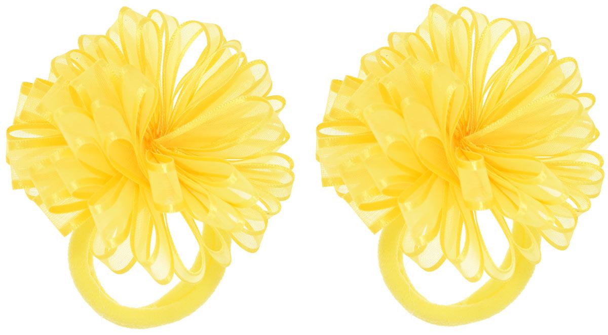 Babys Joy Резинка для волос цвет желтый 2 шт VT 55VT 55_желтыйРезинка для волос Babys Joy выполнена в виде цветка, сшитого из полупрозрачной ленты с атласными краями. Резинка позволит не только убрать непослушные волосы с лица, но и придать образу немного романтичности и очарования. Резинка для волос Babys Joy подчеркнет уникальность вашей маленькой модницы и станет прекрасным дополнением к ее неповторимому стилю.
