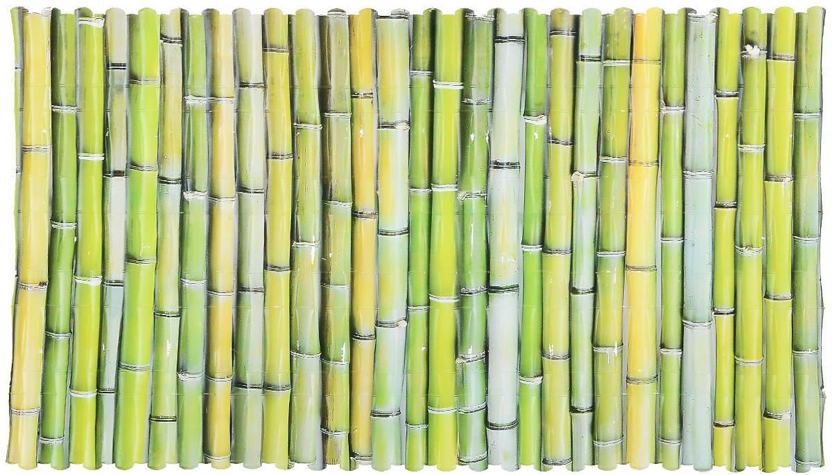 Коврик для ванны Valiant Bamboo, противоскользящий, 70 см х 40 смN7040P-BКоврик для ванны и душевой кабины Valiant Bamboo выполнен из высококачественного винила и оформлен ярким изображением тростника. Противоскользящий коврик для ванны - это хорошая защита детей и взрослых от неожиданных падений на гладкой мокрой поверхности. Коврик очень плотно крепится ко дну множеством присосок, расположенных по всей изнаночной стороне, таким образом, исключая скольжение. Принимая душ или ванную, постелите противоскользящий коврик. Это особенно актуально для семьи с маленькими детьми и пожилыми людьми.