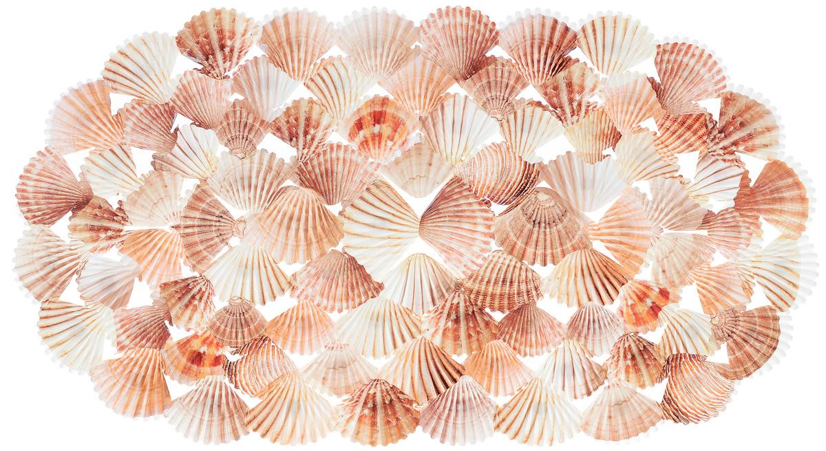 Коврик для ванны Valiant Shells, противоскользящий, 69 см х 39 смN6939P-SHКоврик для ванны и душевой кабины Valiant Shells выполнен из высококачественного винила и оформлен морскими ракушками. Противоскользящий коврик для ванны - это хорошая защита детей и взрослых от неожиданных падений на гладкой мокрой поверхности. Коврик очень плотно крепится ко дну множеством присосок, расположенных по всей изнаночной стороне. Отверстия, предназначенные для пропуска воды, способствуют лучшему сцеплению с поверхностью, таким образом исключая скольжение. Принимая душ или ванную, постелите противоскользящий коврик. Это особенно актуально для семьи с маленькими детьми и пожилыми людьми.