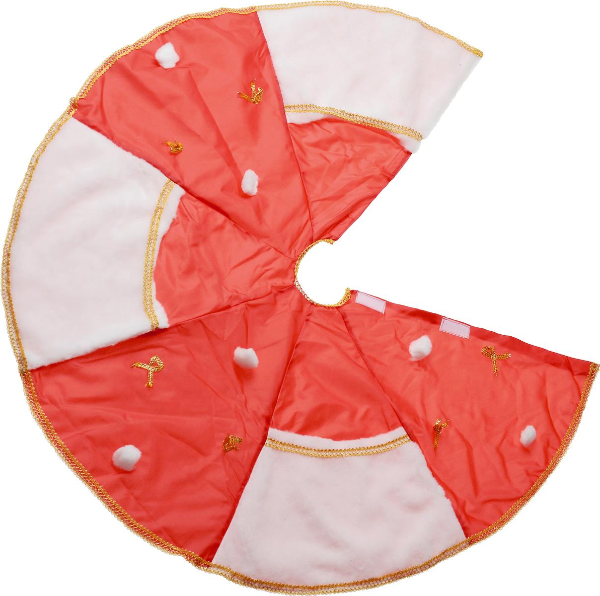 Покрывало под елку Eva, цвет: красный, диаметр 95 смА09_красныйПокрывало Eva, изготовленное из полиэстера и полипропилена, позволит оригинально украсить основание елки, собрать осыпающиеся елочные иголки и, благодаря большим кармашкам, великолепно укроет новогодние подарки. Покрывало фиксируется при помощи липучек. Диаметр покрывала: 95 см.