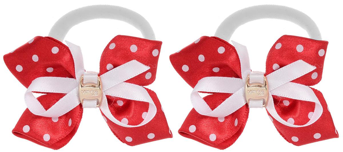 Baby's Joy Резинка для волос цвет красный белый 2 шт MN 39/2