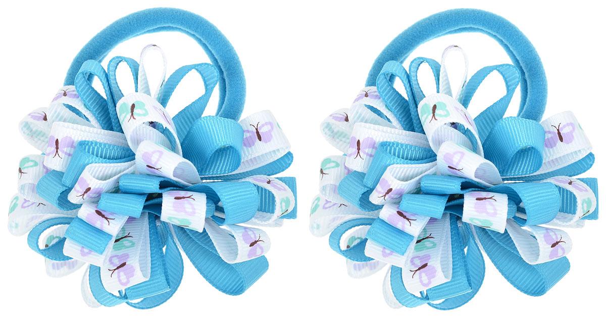Babys Joy Резинка для волос цвет голубой 2 шт K 7K 7_голубой/бабочкиРезинка для волос Babys Joy выполнена в виде цветка, сшитого из двух разных лент, одной однотонной, и второй, украшенной изображением бабочек. Резинка позволит не только убрать непослушные волосы с лица, но и придать образу немного романтичности и очарования. Резинка для волос Babys Joy подчеркнет уникальность вашей маленькой модницы и станет прекрасным дополнением к ее неповторимому стилю.