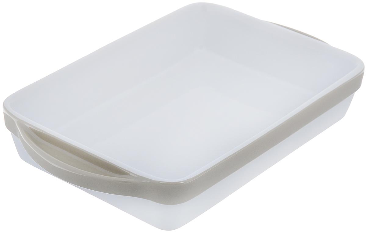 Блюдо для запекания BergHOFF Eclipse, прямоугольная, цвет: белый, бежевый, 30 x 18 см3700464Блюдо для выпечки BergHOFF Eclipse прямоугольной формы изготовлено из жаропрочной глазурованной керамики, что обеспечивает оптимальное распределение тепла. Подходит для запекания различных блюд. Может быть использовано для подачи запеченных и охлажденных блюд на стол. Блюдо станет отличным дополнением к вашему кухонному инвентарю, а также украсит сервировку стола и подчеркнет ваш прекрасный вкус. Подходит для использования в СВЧ и духовом шкафу. Можно мыть в посудомоечной машине. Размер (без учета ручек): 25 см х 18 см. Размер (с учетом ручек): 30 см х 18 см. Высота стенки: 5 см.