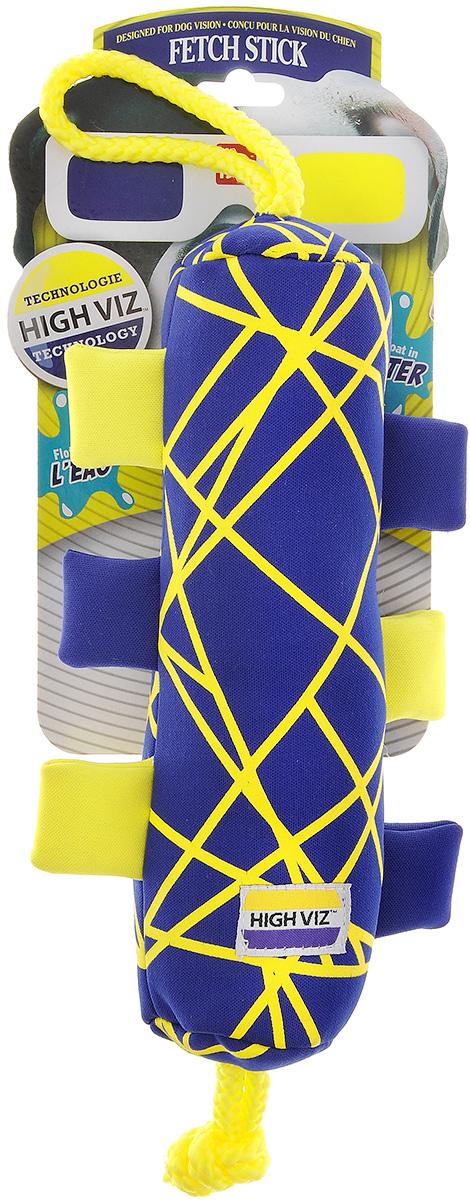 Игрушка для собак R2P Pet High-Viz. Аппортировка, плавающая, цвет: синий, желтый160_синий, желтыйИгрушка для собак R2P Pet High-Viz. Аппортировка - прекрасный подарок для вашего питомца! Собаки воспринимают цвет не так, как человек. Игрушки серии High-Viz разработаны с учетом особенностей зрения собак - сочетание желтого и синего является оптимальным и повышает видимость игрушки. Высококонтрастные расцветки наиболее подходят для глаз собак, стимулируют их внимание и привлекают к игре. Изделие выполнено из неопрена. Игрушка подходит для активной игры с собакой как на суше, так и воде, потому что игрушка не тонет, а плавает на поверхности воды.
