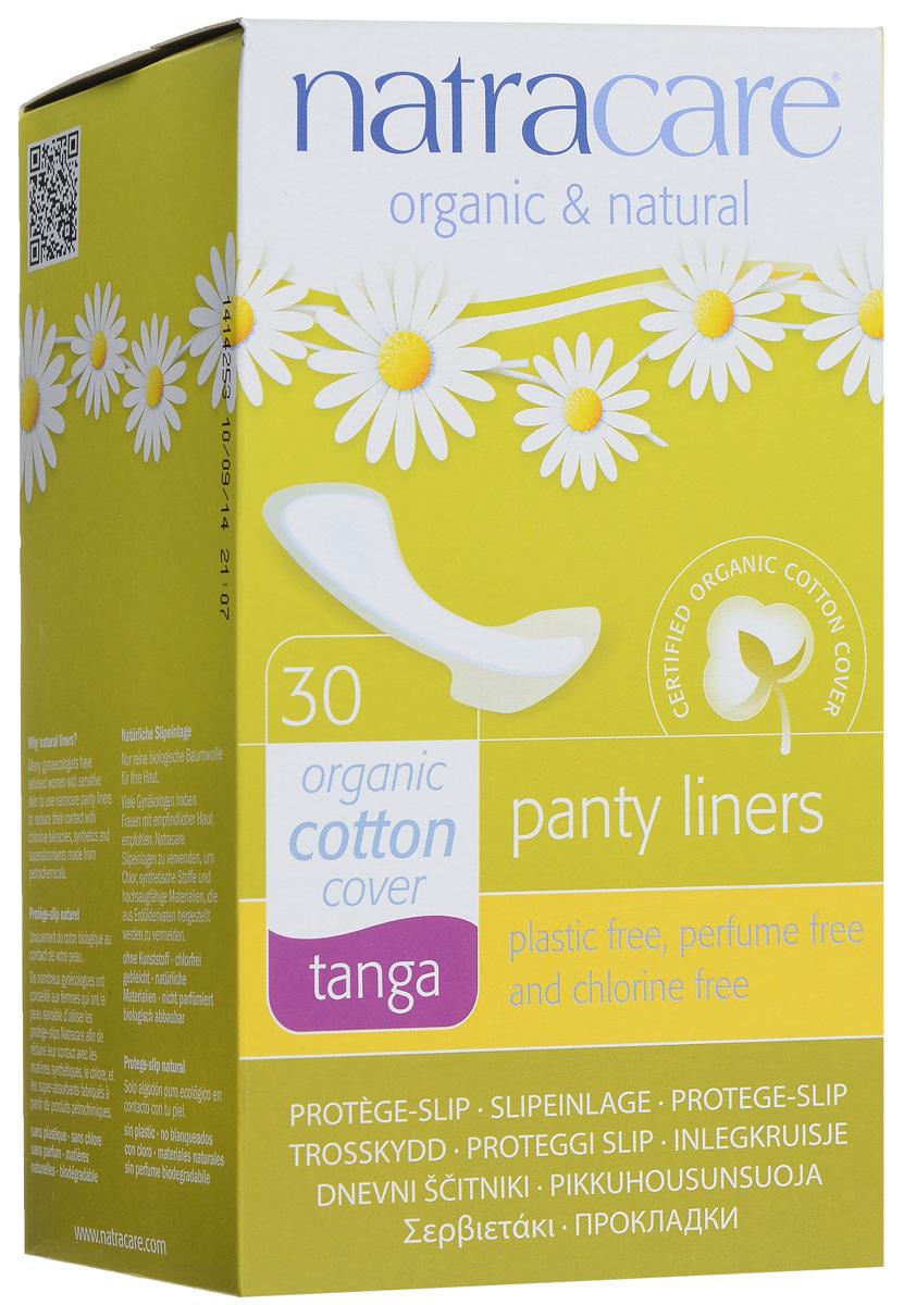 Natracare Ежедневные прокладки Tanga, 30 шт782126003072Прокладки Natracare Tanga для трусиков типа танга предназначены для ежедневного использования, чтобы защитить нижнее белье и сохранить чувство свежести. Каждая прокладка снабжена влагонепроницаемым барьером. Прокладки изготовлены из 100% био-хлопка - экологически чистого продукта, выращенного без использования пестицидов, не содержат вредные ингредиенты, не отбелены хлором, и полностью разлагаются после применения. В производстве прокладок использовался биопласт - пластик нового поколения, изготовленный из кукурузного крахмала, без ГМО. Он воздухопроницаемый, но не пропускает жидкость. В противоположность обычным пластикам, биопласт изготовлен из растительных материалов и биоразлагается.