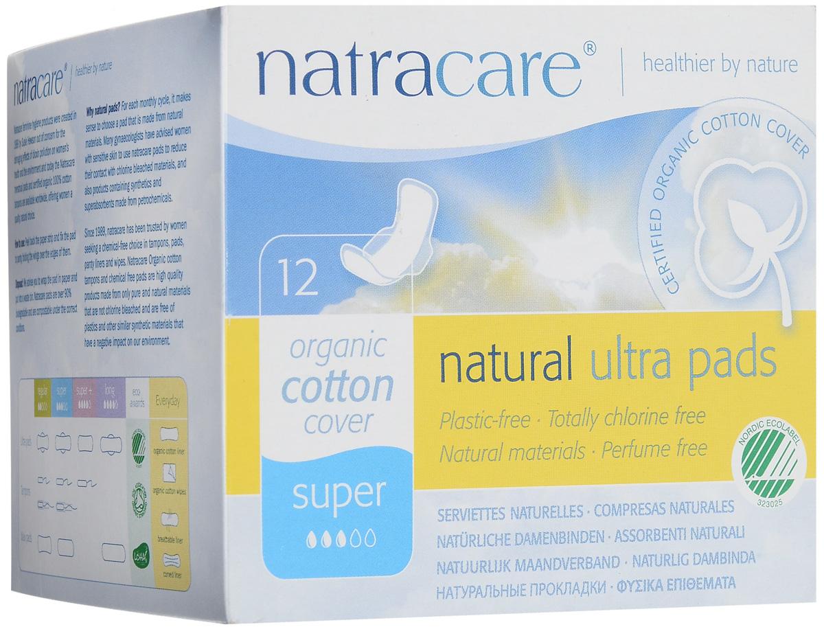 """Гигиенические ультратонкие прокладки с крылышками Natracare """"Super"""", 12 шт"""