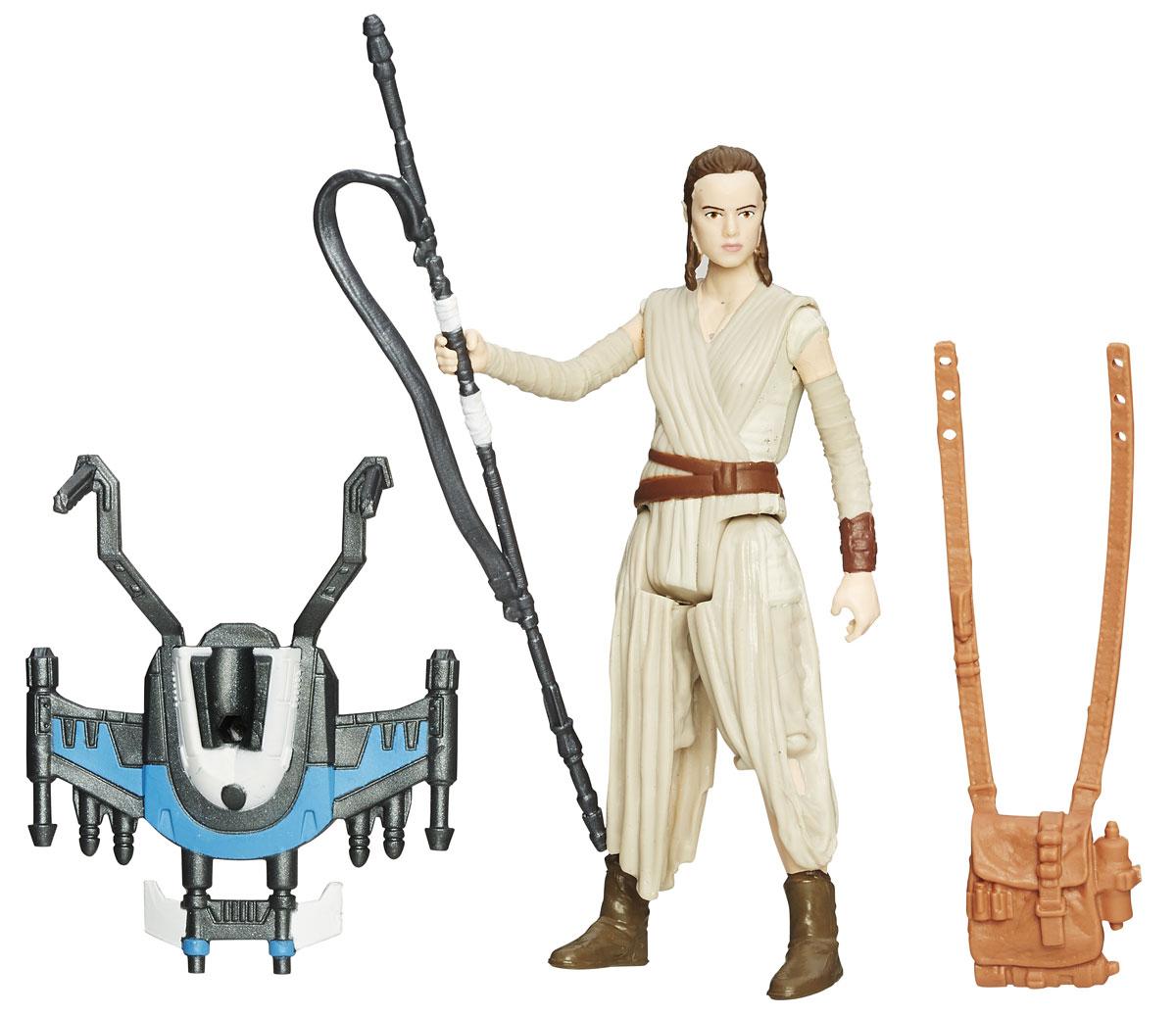 Star Wars Фигурка Rey Starkiller BaseB3963EU4_B3965Фигурка Rey создана в виде героя всеми любимой фантастической саги Звездные Войны Рей. Фигурка из пластика проработана до мельчайших деталей и является точной копией своего прототипа в уменьшенном размере. Конечности фигурки подвижны: поворачивается голова, сгибаются ноги и руки. Все это сделает игру реалистичной и разнообразной. Такая фигурка непременно понравится поклоннику Звездных войн и станет замечательным украшением любой коллекции. В наборе: фигурка и снаряжение.