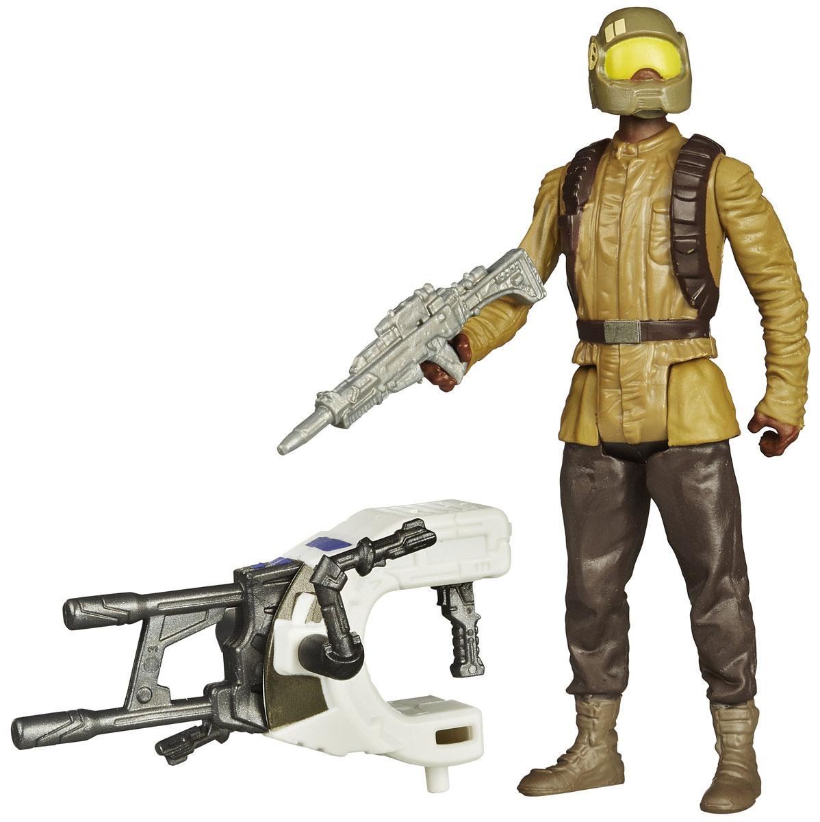Star Wars Фигурка Resistance TrooperB3445EU4_B3451Фигурка Resistance Trooper создана в виде героя всеми любимой фантастической саги Звездные Войны. Фигурка из пластика проработана до мельчайших деталей и является точной копией своего прототипа в уменьшенном размере. Конечности фигурки подвижны: поворачивается голова, сгибаются ноги и руки. Все это сделает игру реалистичной и разнообразной. Герой Resistance Trooper - хорошо обученный и оснащенный боец сопротивления. Такая фигурка непременно понравится поклоннику Звездных войн и станет замечательным украшением любой коллекции. В наборе: фигурка и снаряжение.