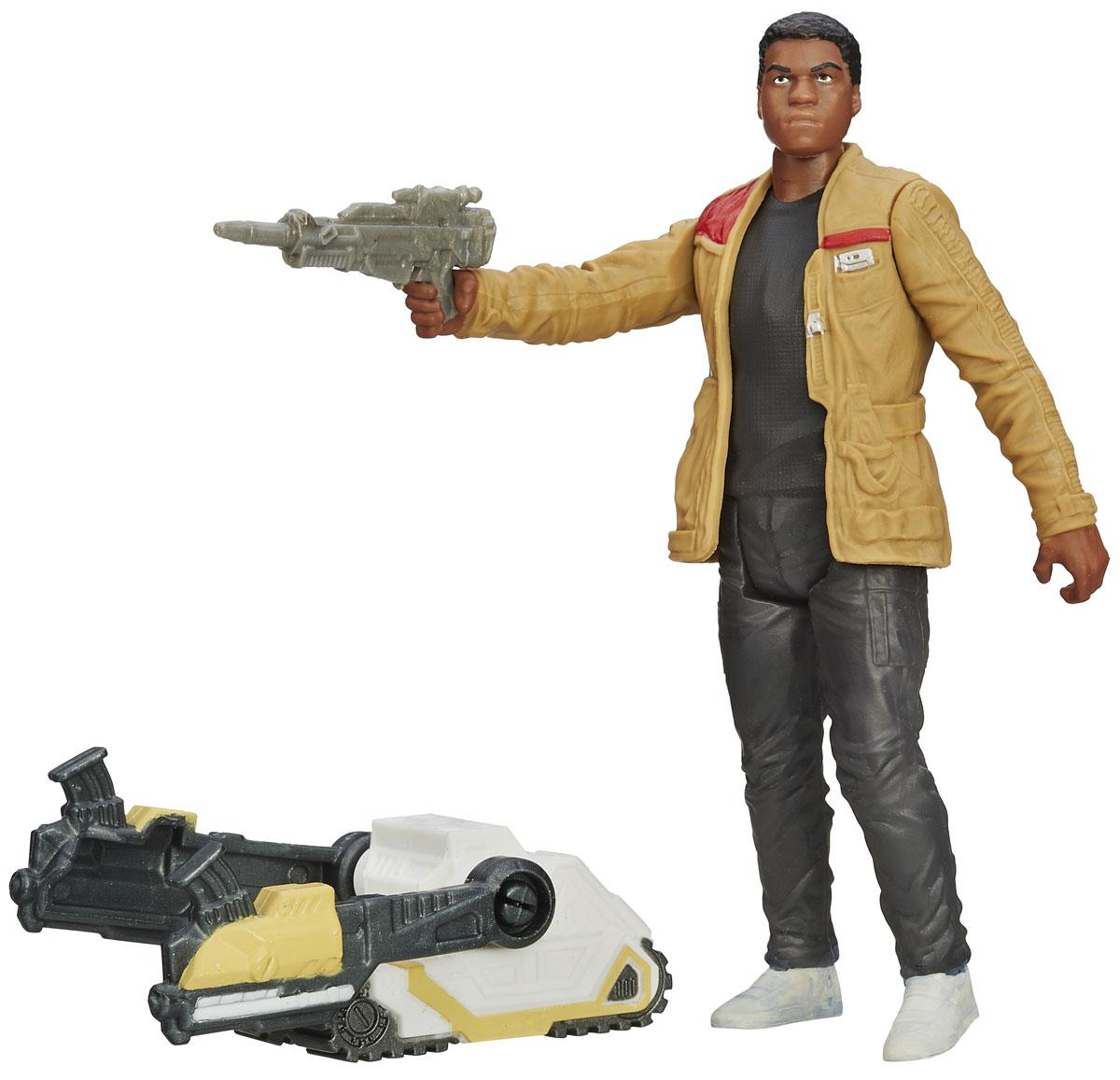 Star Wars Фигурка Desert Mission Finn JakkuB3963EU4_B3967Фигурка Finn Jakku создана в виде героя всеми любимой фантастической саги Звездные Войны. Фигурка из пластика проработана до мельчайших деталей и является точной копией своего прототипа в уменьшенном размере. Конечности фигурки подвижны: поворачивается голова, сгибаются ноги в коленях, а руки в локтях. Все это сделает игру реалистичной и разнообразной. Такая фигурка непременно понравится поклоннику Звездных войн и станет замечательным украшением любой коллекции. В наборе: фигурка и оружие.
