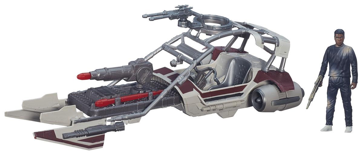 Star Wars Игровой набор Desert Landspeeder & Finn JakkuB3672_B3674Игровой набор Игровой набор Landspeeder & Finn Jakku включает в себя героя всеми любимой фантастической саги Звездные Войны Финна и его транспортное средство. Такой набор непременно понравится поклоннику Звездных войн и станет замечательным украшением любой коллекции. В наборе: фигурка и лендспайдер.