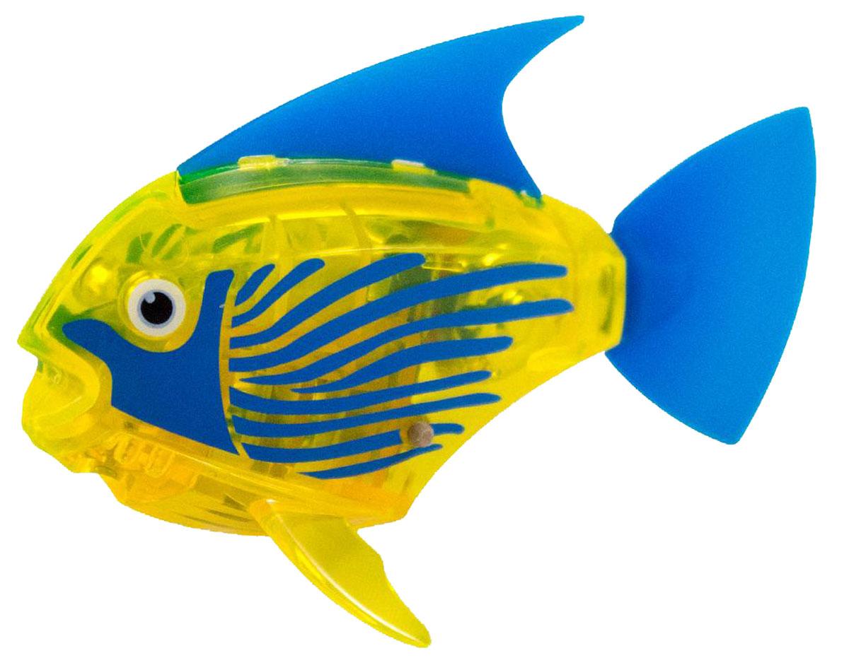 Hexbug Микро-робот Deco цвет желтый460-3591_2Hexbug Aquabot 2.0 Deco - робот микро-рыбка Angelfish с дополнительным окрасом, который оживляет ее внешний вид, делая ее похожей на настоящую экзотическую рыбку. Для микрорыбки не требуется особый уход. Все что нужно — это емкость и вода. Попадая в жидкость, рыбка, почувствовав комфортную для себя среду, начнет шевелить плавничками и хвостом, плавая на поверхности и исследуя окружающее водное пространство, или быстро погружаясь вглубь. Спустя 5 минут непрерывных движений рыбка заснет. Постучав по стенкам аквариума, ее можно разбудить и продолжить игру. В один аквариум можно поместить несколько рыбок, вместе им будет веселее. Кстати за микрорыбкой можно наблюдать не только днем, но и ночью, ведь она светится в темноте!