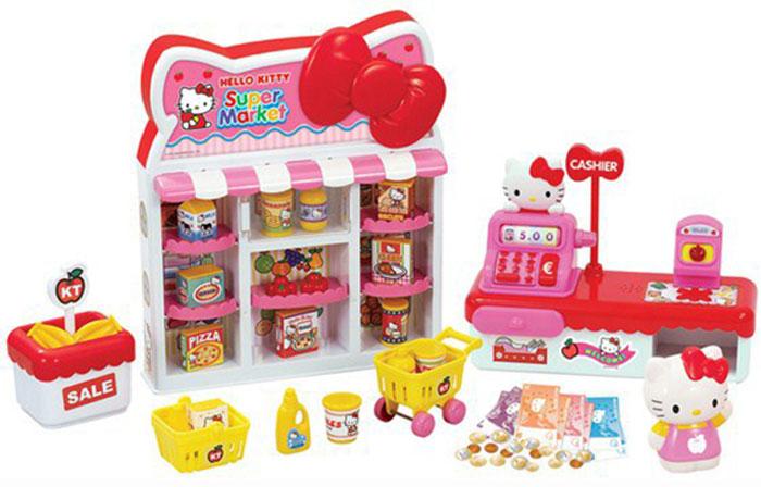Hello Kitty Игровой набор Супермаркет290153Игровой набор по мотивам полюбившегося многим японского мультфильма. Фигурки с образами знаменитой кошечки и множеством аксессуаров для игры подарят много радостных моментов детям. Все наборы серии только дополняют друг друга, развивают образное мышление, коммуникативные навыки между детьми. Эти игры будто шепчут: Поиграй с подругой!