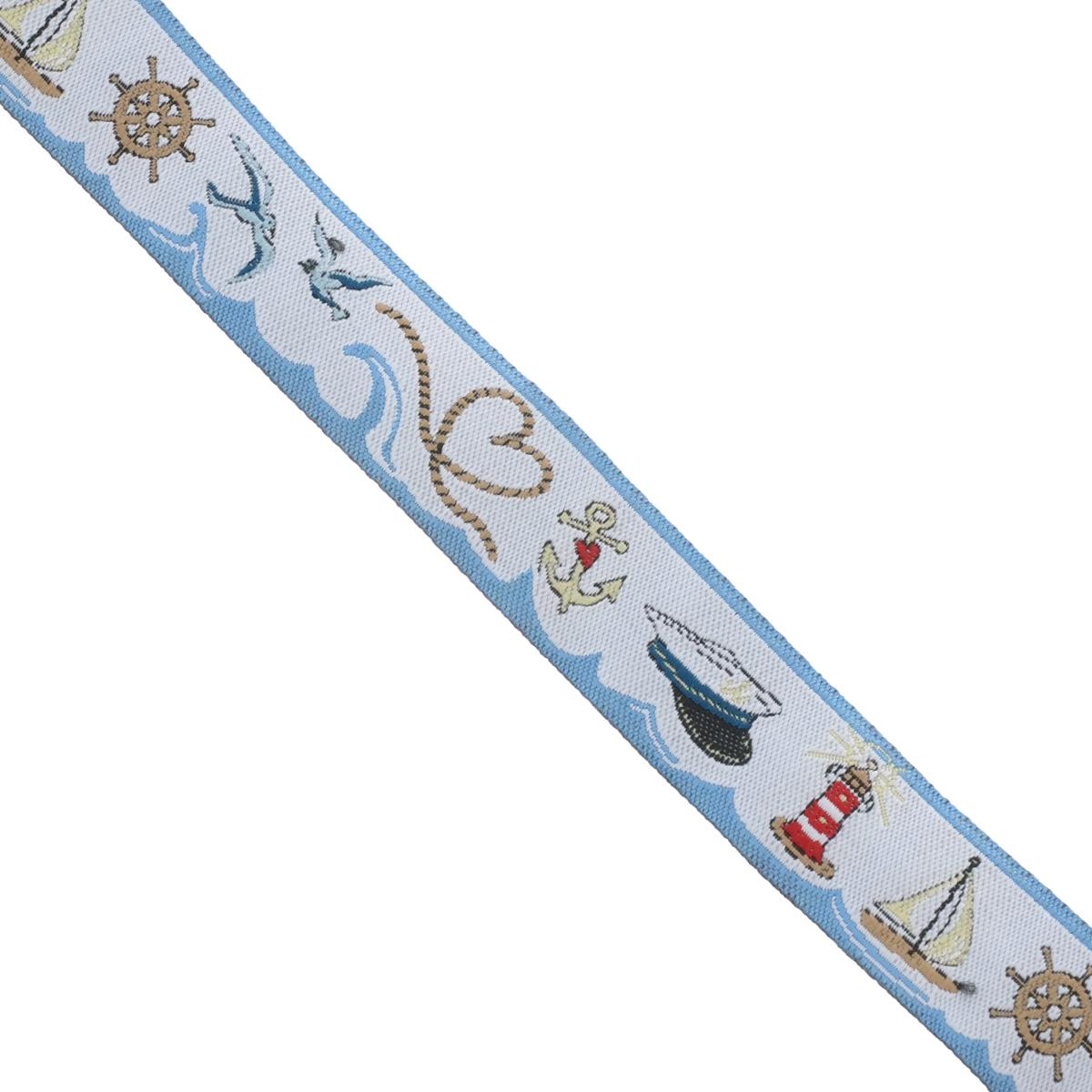 Тесьма декоративная Acufactum Ute Menze Морской, 1,6 см х 100 см35156Декоративная тесьма Acufactum Ute Menze Морской выполнена из высококачественного 100% полиэстера. На ленте изображены предметы морской тематики. Такая тесьма идеально подойдет для оформления различных творческих работ таких, как скрапбукинг, аппликация, декор коробок и открыток и многое другое. Тесьма наивысшего качества и практична в использовании. Она станет незаменимым элементом в создании рукотворного шедевра. Ширина: 1,6 см. Длина: 1 м.