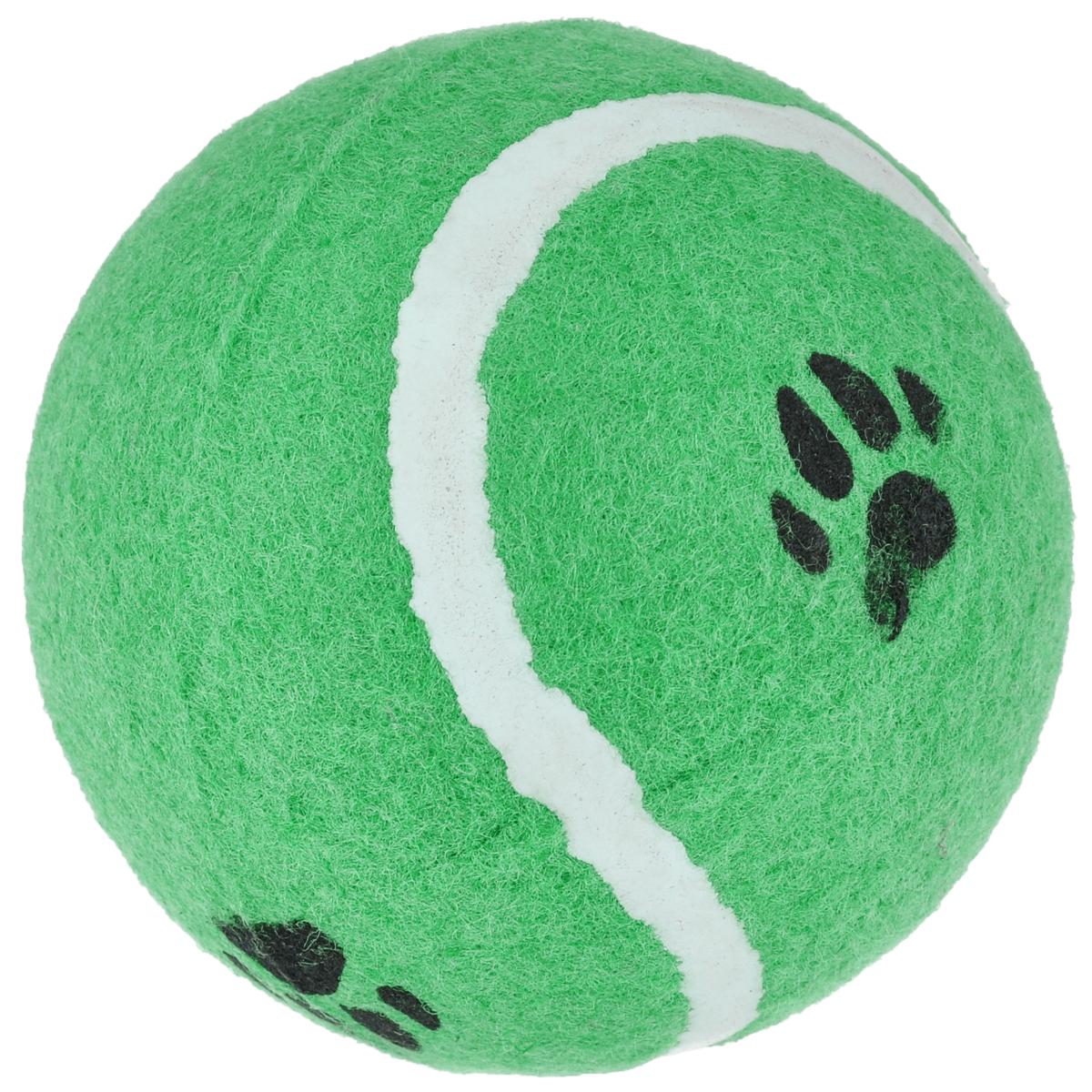 Игрушка для собак I.P.T.S. Мячик теннисный с отпечатками лап, цвет: зеленый, диаметр 10 см16211/625596_зеленыйИгрушка для собак I.P.T.S. Мячик теннисный с отпечатками лап изготовлена из прочной цветной резины с ворсистой поверхностью в виде реального теннисного мяча с отпечатками лап. Предназначена для игр с собакой любого возраста. Такая игрушка привлечет внимание вашего любимца и не оставит его равнодушным. Диаметр: 10 см.
