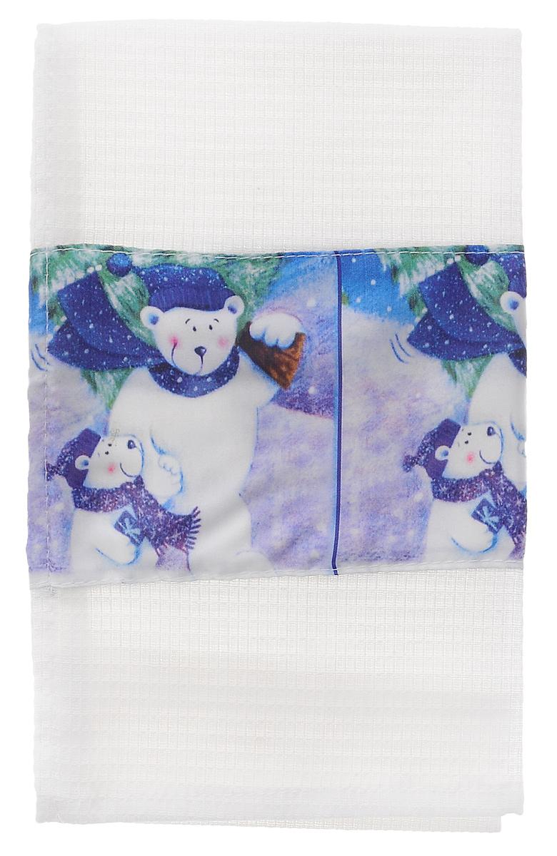 Полотенце кухонное Eva Белые медведи, 60 см х 34 смА061 ОК1_белые медведиПолотенце Eva Белые медведи, выполненное из полиэстера и хлопка, оформлено ярким рисунком. Изделие предназначено для использования на кухне и в столовой. Полотенце Eva Белые медведи - отличный вариант для практичной и современной хозяйки.