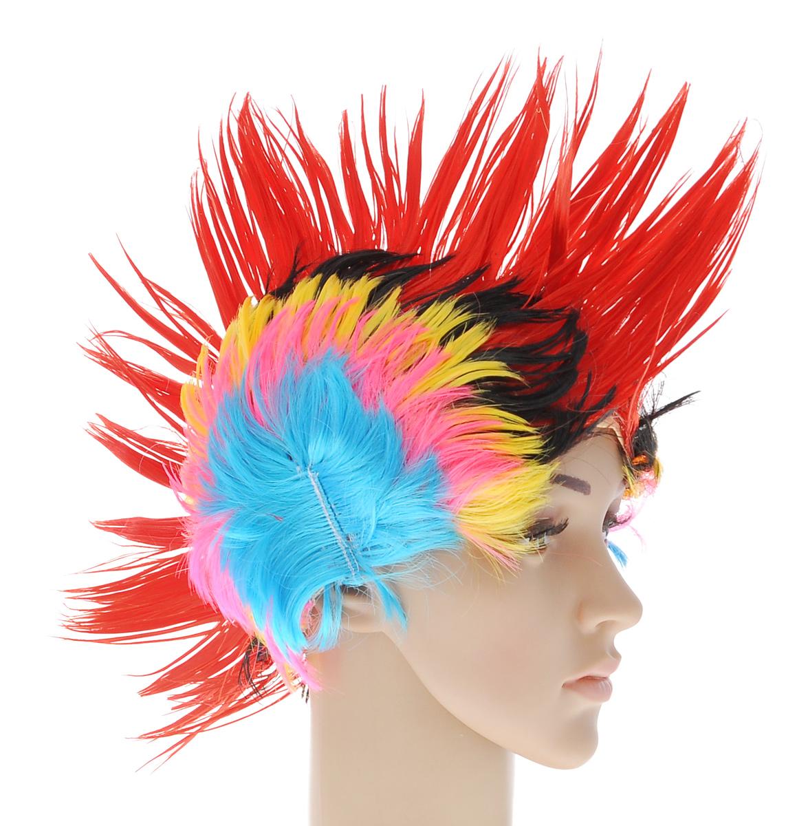 Парик маскарадный Феникс-Презент Панк31215Маскарадный парик Феникс-Презент Панк, изготовленный из полиэстера, представляет собой разноцветный ирокез. В таком парике вы будете выглядеть просто великолепно. Если у вас намечается веселая вечеринка или маскарад, то такой аксессуар легко поможет создать праздничный наряд. Внесите нотку задора и веселья в ваш праздник. Веселое настроение и масса положительных эмоций вам будут обеспечены! Размер: универсальный. Высота ирокеза: 15 см.