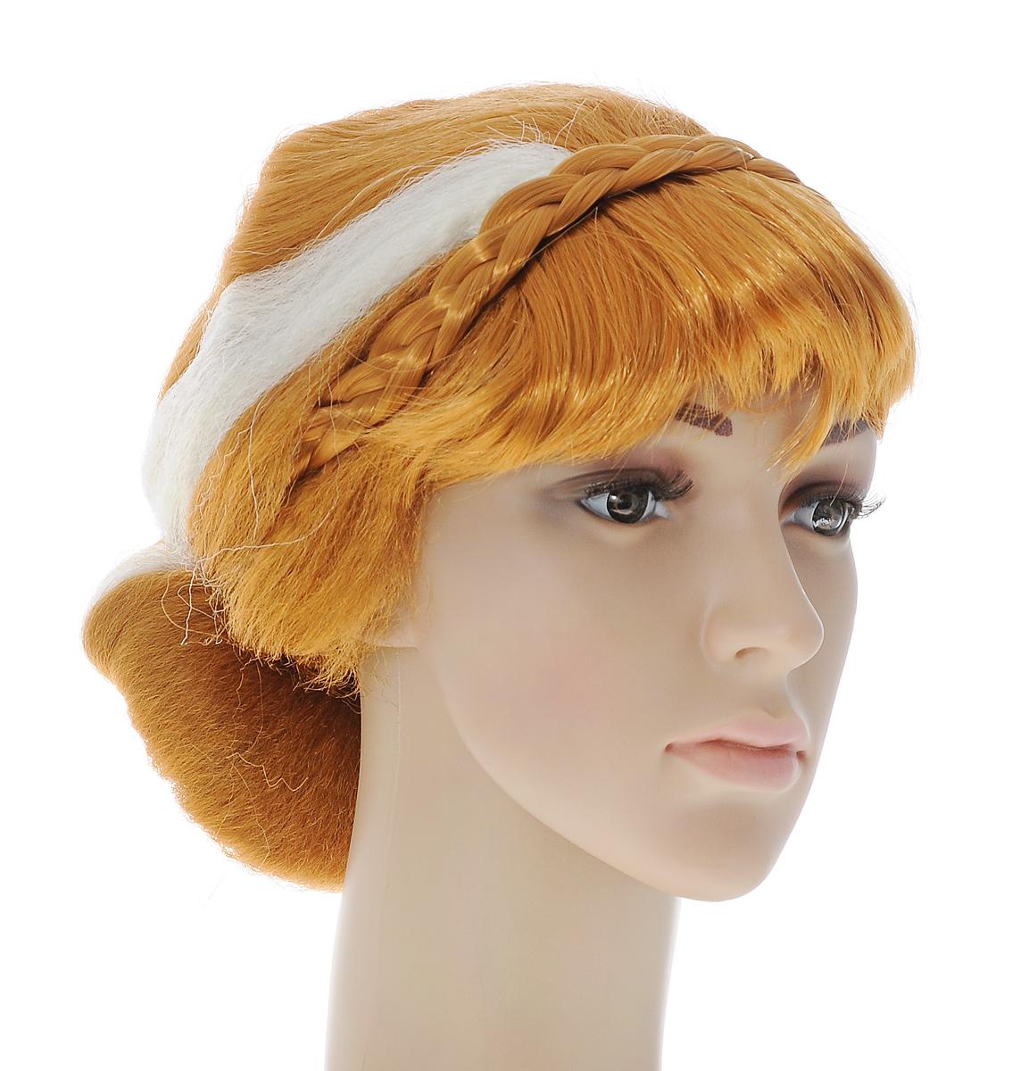 Парик маскарадный Феникс-презент Бестия, цвет: рыжий, белый38752Маскарадный парик Феникс-презент Бестия выполнен из полиэстера в виде волос, оформленных изящной косой. В таком парике вы будете выглядеть просто великолепно. Веселое настроение и масса положительных эмоций вам будут обеспечены! Размер: универсальный.