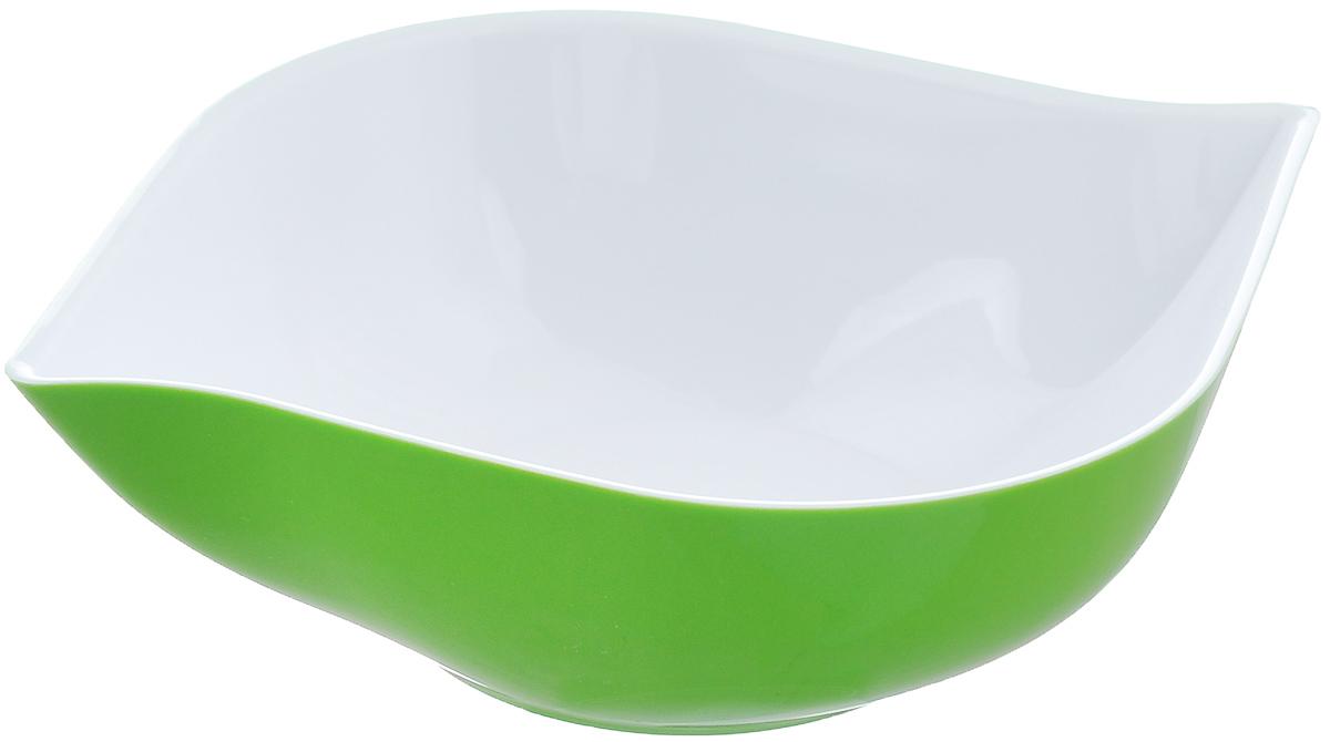 Салатник Berossi Estel, цвет: зеленый, белый, 500 млИК10548000Салатник Berossi Estel изготовлен из высококачественного пищевого пластика. Такой салатник прекрасно подойдет для сервировки салатов, фруктов, ягод. Прекрасный вариант для дачи и отдыха на природе. Объем: 500 мл. Размер (по верхнему краю): 19 см х 15 см. Высота стенки: 5 см.