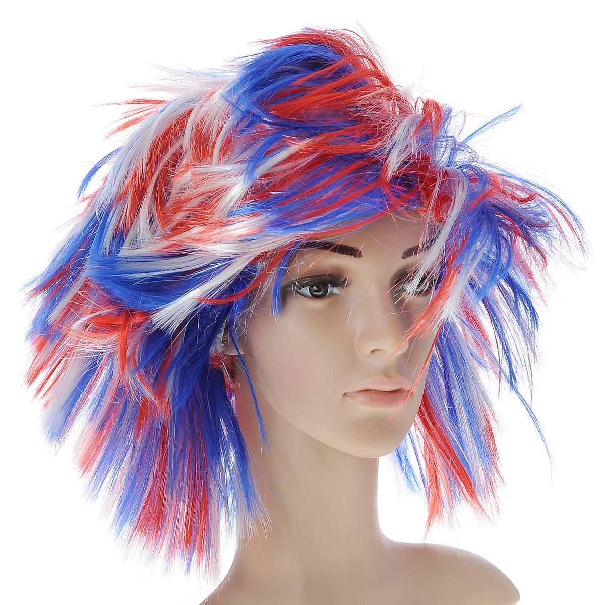 Парик маскарадный Феникс-презент Бунтарка, цвет: белый, синий, красный31209Маскарадный парик Феникс-презент Бунтарка выполнен из полиэстера и имеет разную длину прядей. В таком парике вы будете выглядеть просто великолепно. Веселое настроение и масса положительных эмоций вам будут обеспечены! Размер: универсальный. Максимальная длина волос: 15 см.