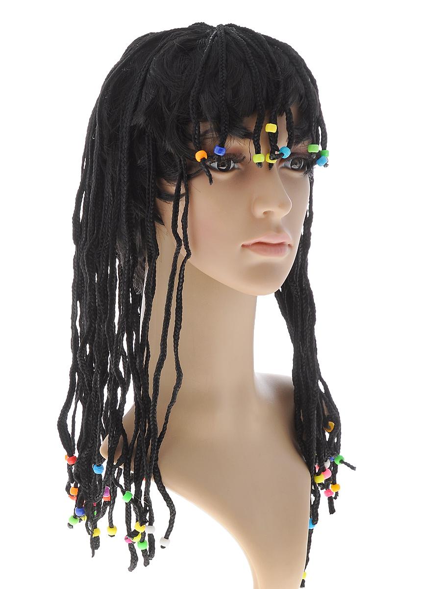 Парик маскарадный Феникс-Презент Пиратка31208Маскарадный парик Феникс-Презент Пиратка, изготовленный из полиэстера, представляет собой длинные волосы, заплетенные в косички с пластиковыми бусинами на концах. В таком парике вы будете выглядеть просто великолепно. Парик дополнит образ вашего персонажа, подчеркнет его характер и сформирует облик в целом. Если у вас намечается веселая вечеринка или маскарад, то такой аксессуар легко поможет создать праздничный наряд. Внесите нотку задора и веселья в ваш праздник. Веселое настроение и масса положительных эмоций вам будут обеспечены! Размер: универсальный. Длина волос: 45 см.