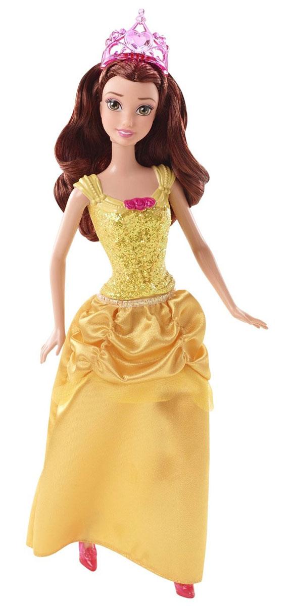 Disney Princess Кукла Белль цвет платья желтыйCFB82_CFB75_БелльОчаровательная кукла Бель непременно понравится вашей малышке. главная героиня диснеевского мультфильма Красавица и Чудовище. Кукла имеет пластиковый корсет, который украшен золотыми блестками и пышную юбку желтого цвета. У нее длинные каштановые волосы и диадема на голове. Порадуйте свою дочурку таким замечательным подарком!