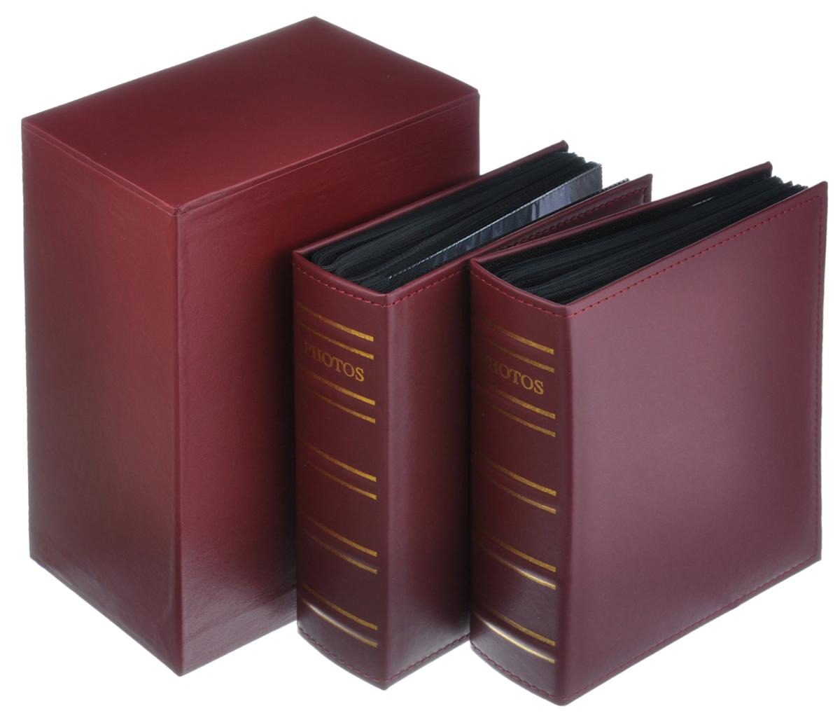 Набор фотоальбомов Image Art, 200 фотографий, 10 см х 15 см, 2 шт. Art -400Art -400Набор Image Art, состоящий из двух фотоальбомов, поможет красиво оформить ваши фотографии. Обложки фотоальбомов выполнены из толстого картона, обтянутого искусственной кожей. Внутри содержится блок из 50 листов с фиксаторами-окошками из ПВХ. Каждый альбом рассчитан на 200 фотографий формата 10 см х 15 см (по 2 фотографии на странице). Переплет - книжный. Альбомы вставляются в подарочную коробку, оснащенную ящиком для хранения различных мелочей. Нам всегда так приятно вспоминать о самых счастливых моментах жизни, запечатленных на фотографиях. Поэтому фотоальбом является универсальным подарком к любому празднику. Комплектация: 2 шт. Количество листов в одном альбоме: 50 шт. Число мест для фотографий в одном альбоме: 200 шт. Размер фотоальбома: 23 см х 18 см х 6 см.