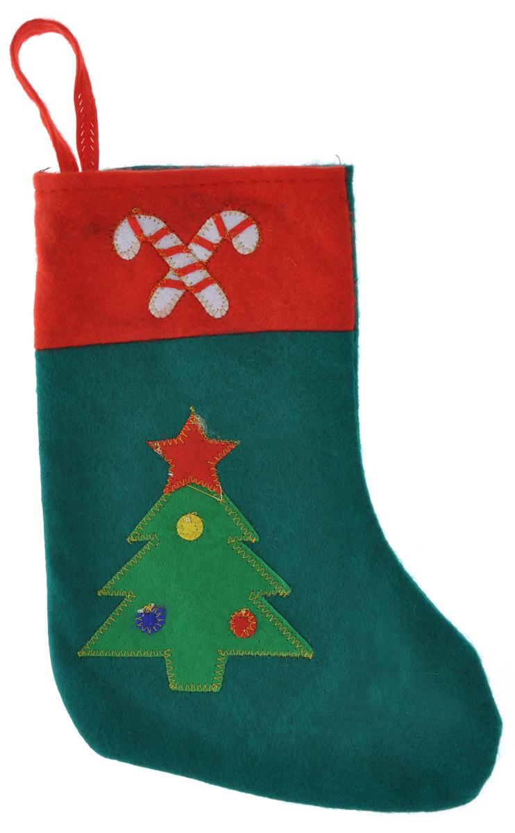 Новогоднее подвесное украшение Феникс-Презент Носок32087Новогоднее украшение Феникс-Презент Носок отлично подойдет для декорации вашего дома. Украшение выполнено из полиэстера в виде носка для подарков и оформлено аппликацией в виде новогодней ели. Вы можете подвесить его в любом месте, где оно будет удачно смотреться, и радовать глаз. Кроме того, это украшение - отличный вариант подарка для ваших близких и друзей. Новогодние украшения всегда несут в себе волшебство и красоту праздника. Создайте в своем доме атмосферу тепла, веселья и радости, украшая его всей семьей.