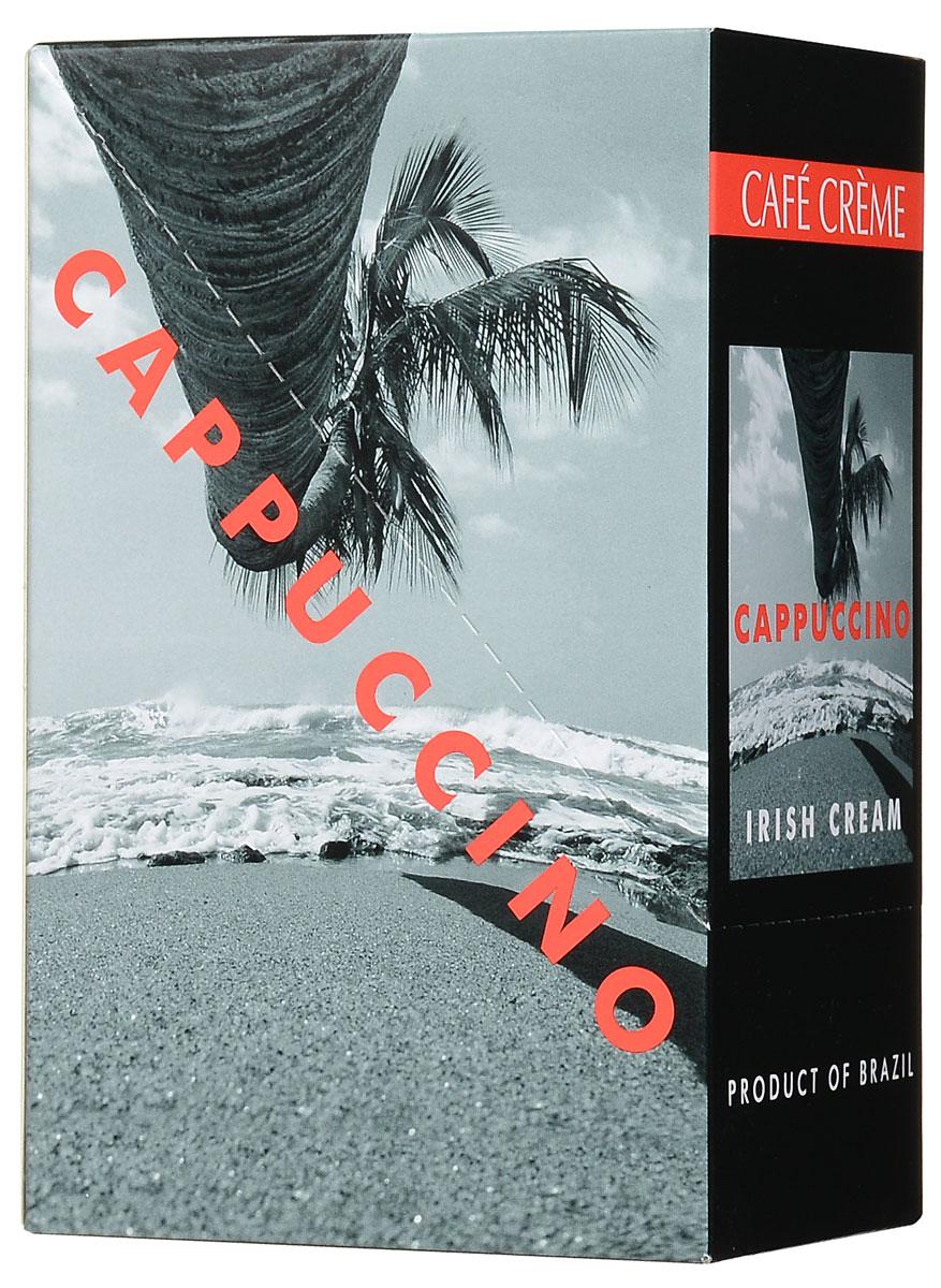 Cafe Creme Irish Cream кофейный напиток в пакетиках, 10 шт4607141333217Капучино Cafe Creme изготовлен с использованием 100% натурального кофе высшего качества, выращенного в горах Эспирито-Санто на юго-востоке Бразилии. Восхитительное сочетание натурального бразильского кофе, ирландского ликера и воздушной сливочной пенки. Приготовлен по оригинальному бразильскому рецепту. Состав: сахар-песок, заменитель сухих сливок, натуральный кофе, ароматизатор.