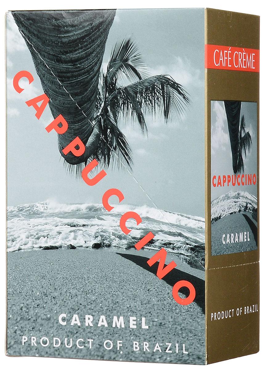 Cafe Creme Caramel кофейный напиток в пакетиках, 10 шт4607141333194Капучино Cafe Creme изготовлен с использованием 100% натурального кофе высшего качества, выращенного в горах Эспирито-Санто на юго-востоке Бразилии. Ароматный кофе с карамельным сиропом и нежной молочной пенкой придает напитку сливочно-карамельный вкус. Приготовлен по оригинальному бразильскому рецепту. Состав: сахар-песок, заменитель сухих сливок,кофе натуральный, ароматизатор.