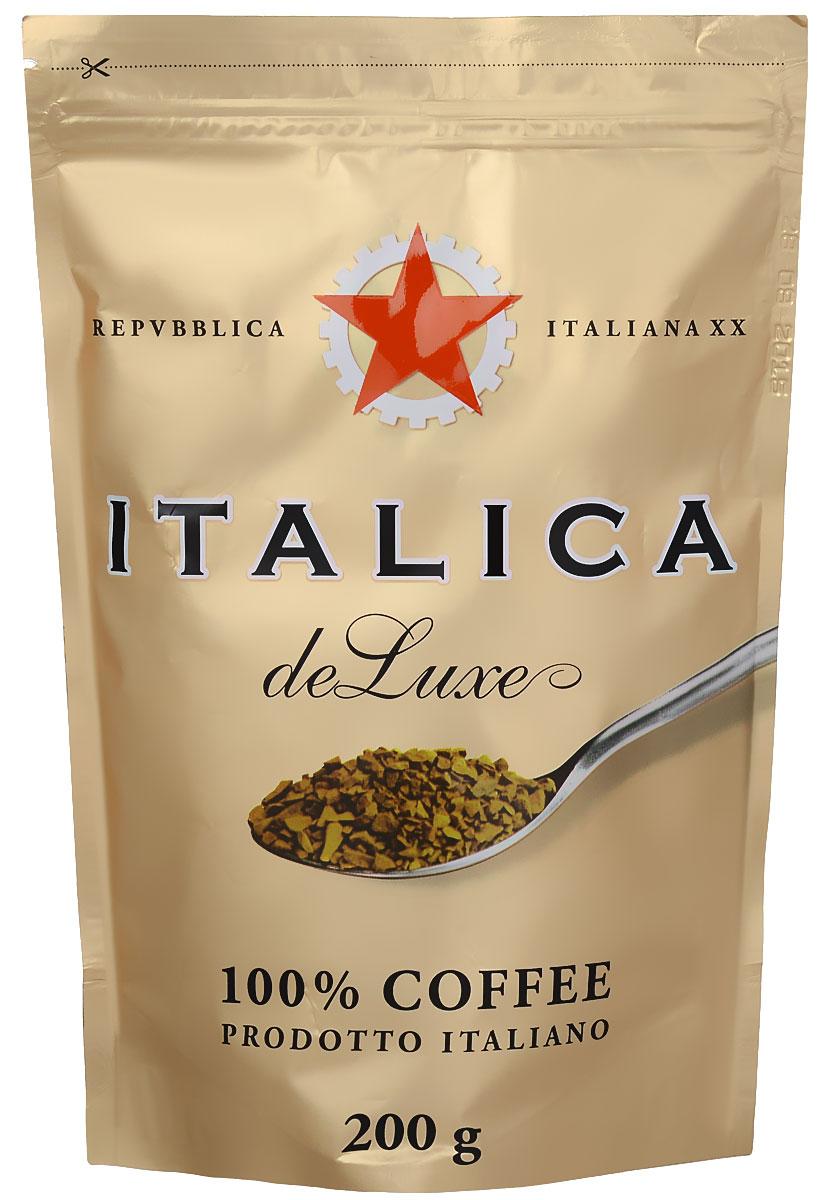 Italica de Luxe кофе растворимый, 200 г8057288870117Italica de Luxe создан мастерами старой школы с уважением к итальянским кофейным традициям. Богатую палитру вкуса этого кофе составляют лучшие кофейные зерна Бразилии, Кении, Центральной Америки, Мексики и Ямайки. Попробуйте традиционный кофе - шедевр итальянского кофейного искусства!