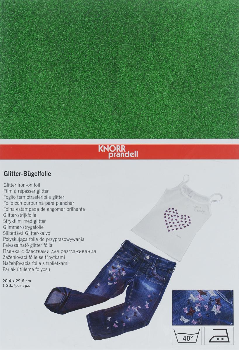 Фольга для декорирования ткани Knorr Prandell, цвет: зеленый, 20,4 х 29,6 см2179025-40Фольга Knorr Prandell предназначена для декорирования ткани. Нужно просто создать необходимый узор и нанести на ткань с помощью утюга. Также фольга может использоваться для украшения картонных коробок и металлических или деревянных изделий. Можно стирать при температуре до 40°С.