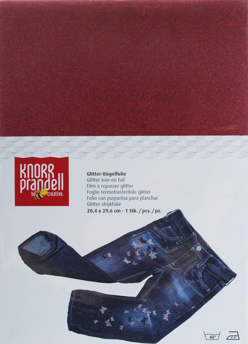 Фольга для декорирования ткани Knorr Prandell, цвет: красный, 20,4 х 29,6 см217902520Фольга Knorr Prandell предназначена для декорирования ткани. Нужно просто создать необходимый узор и нанести на ткань с помощью утюга. Также фольга может использоваться для украшения картонных коробок и металлических или деревянных изделий. Можно стирать при температуре до 40°С.