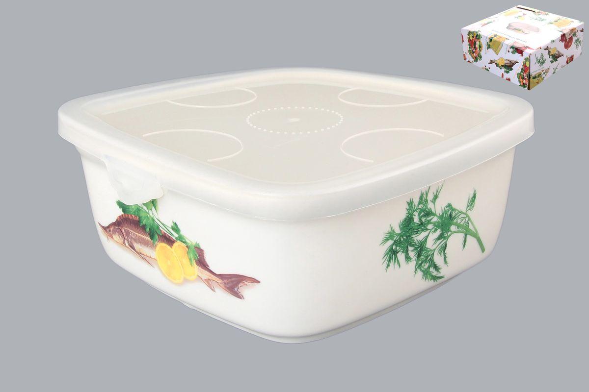 Блюдо для холодца Elan Gallery Осетр, с крышкой, 700 мл101218Блюдо для холодца Elan Gallery Осетр, изготовленное из высококачественной керамики, предназначено для приготовления и хранения заливного или холодца. Пластиковая крышка, входящая в комплект, сохранит свежесть вашего блюда. Также блюдо можно использовать для приготовления и хранения салатов. Оформлено изделие оригинальным рисунком. Такое блюдо украсит сервировку вашего стола и подчеркнет прекрасный вкус хозяйки. Не использовать в микроволновой печи. Размер блюда (Д х Ш х В): 16 см х 16 см х 6,5 см.