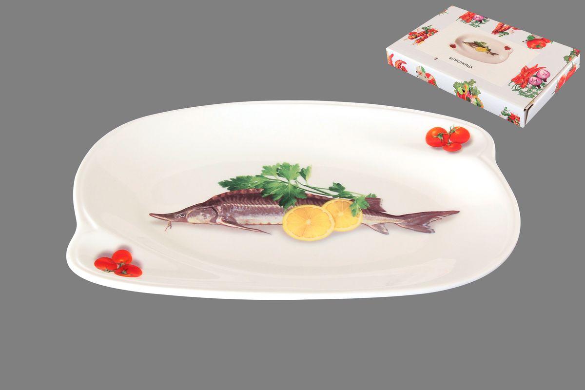 Шпротница Elan Gallery Осетр, 19,5 см х 12,5 см101262Шпротница Elan Gallery Осетр, выполненная из высококачественной керамики, оснащена ручками для удобной переноски. Изделие предназначено для подачи блюд из рыбы, нарезки и многого другого. Такая шпротница станет желанным подарком для ваших близких.