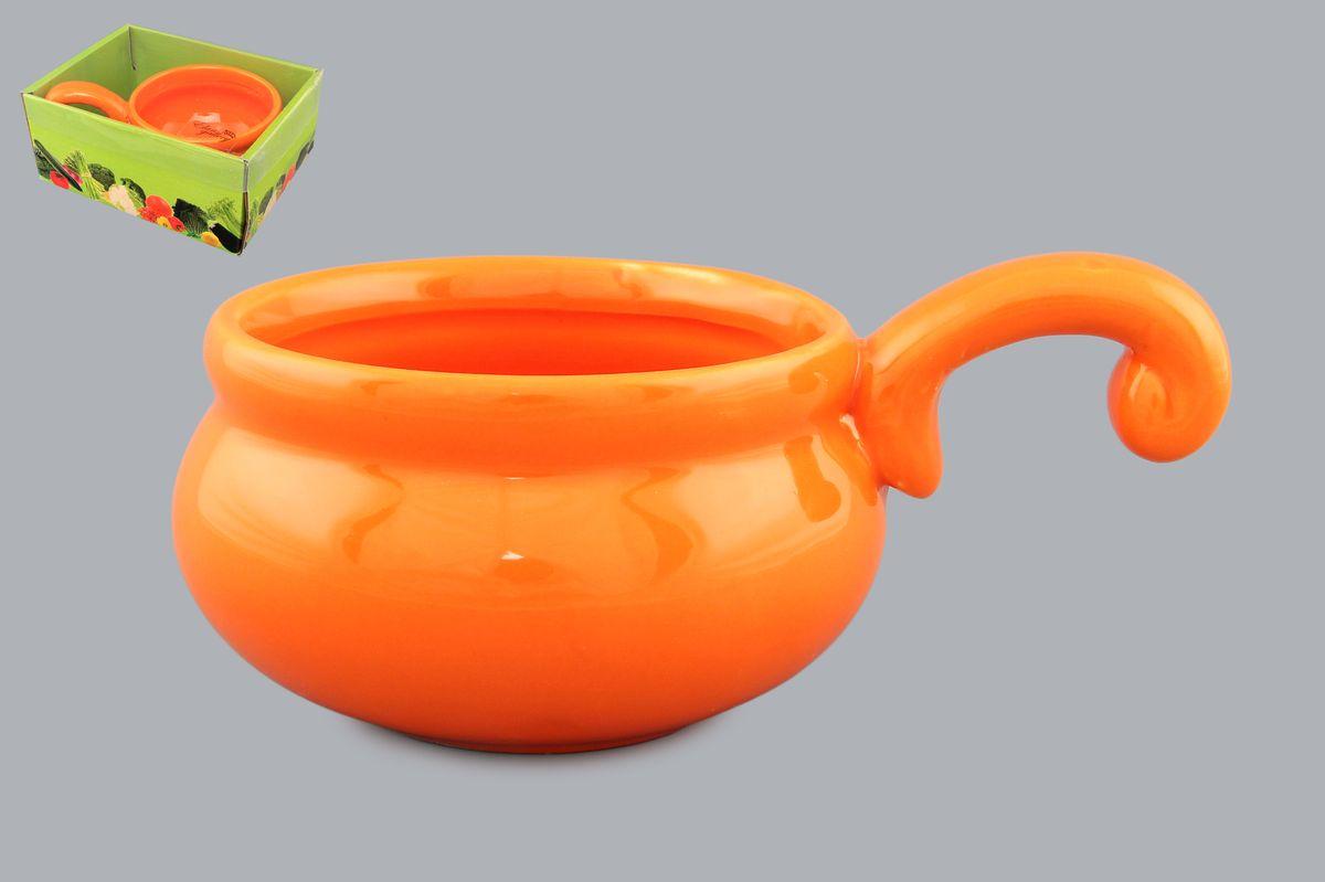 Жюльенница -кокотница Оранжевая 15*9*6 см. 260 мл. в подарочной упаковке . 110771110771Для любителей вкусно покушать незаменимыми станут жельенницы, предназначенные для запекания и приготовления соусов. Изделие имеет подарочную упаковку, поэтому станет желанным подарком для Ваших близких!