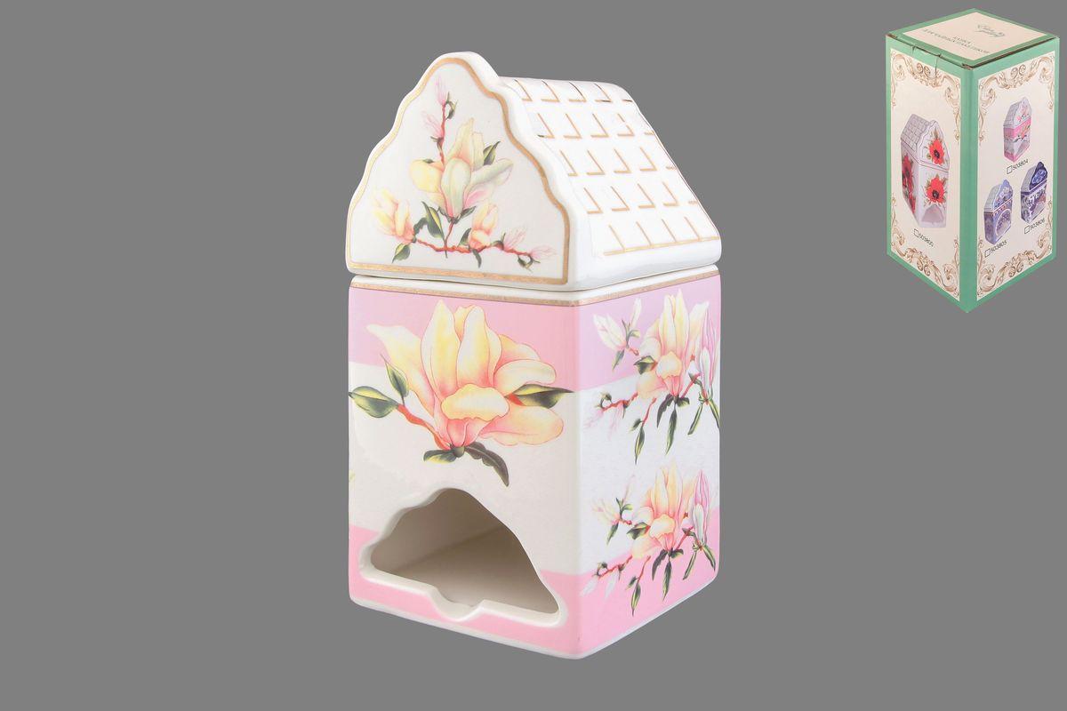 Банка-домик для чайных пакетиков Elan Gallery Орхидея503804Банка-домик для чайных пакетиков Elan Gallery Орхидея изготовлена из высококачественной керамики в виде домика, украшенного цветочным рисунком. Банка оснащена удобной крышечкой и отверстием снизу, с помощью которого удобно доставать чайные пакетики. Такая оригинальная банка для хранения красиво оформит кухонный стол и удивит вас своей функциональностью. Размер (Д х Ш х В): 8,5 см х 8 см х 16,5 см.