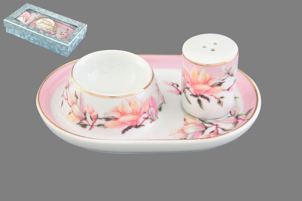 Тарелочка под яйцо Орхидея на розовом 13*9*4 см. с солонкой в подарочной упаковке . 503865503865Тарелочка под яйцо с солонкой позволит сервировать стол к завтраку. Соберите всю коллекцию предметов сервировки Орзидея на розовом и Ваши гости будут в восторге! Изделие имеет подарочную упаковку, идеальный подарок для Ваших близких!