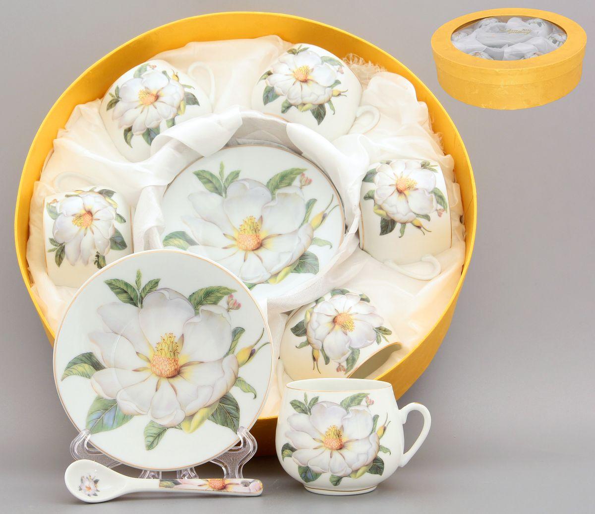 Кофейный набор Белый шиповник 130 мл. 12 предметов с ложками в подарочной упаковке . 730287730287Кофейный сервиз на 6 персон включает 6 чашек объемом 130 мл, 6 блюдец, 6 ложек и станет достойным подарком для любителей кофе. Соберите всю коллекцию предметов сервировки Белый шиповник и Ваши гости будут в восторге! Изделие имеет подарочную упаковку.