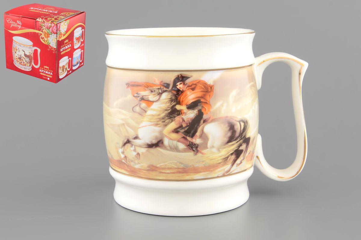 Кружка Elan Gallery Наполеон, 550 мл730370Большая Кружка Elan Gallery Наполеон станет оригинальным подарком любимым мужчинам! Идеальна для тех, кто предпочитает большие кружки. Для любителей чая, кофе и пенных напитков. Объем: 550 мл.