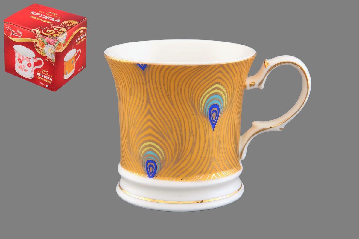 Кружка Elan Gallery Павлиний глаз, цвет: белый, желтый, золотистый, 170 мл730402Кружка Elan Gallery Павлиний глаз выполнена из керамики. Она станет отличным дополнением к сервировке семейного стола и замечательным подарком для ваших родных и друзей. Диаметр кружки по верхнему краю: 7,5 см. Высота кружки: 7,5 см. Не рекомендуется применять абразивные моющие средства. Не использовать в микроволновой печи.