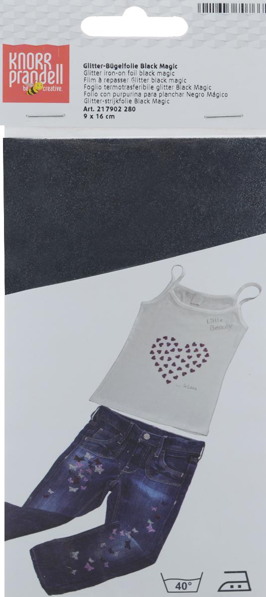 Фольга для декорирования ткани Knorr Prandell, цвет: черный, 9 см х 16 см2179022-80Фольга Knorr Prandell предназначена для декорирования ткани. Нужно просто создать необходимый узор и нанести на ткань с помощью утюга. Также фольга может использоваться для украшения картонных коробок и металлических или деревянных изделий. Можно стирать при температуре до 40°С.