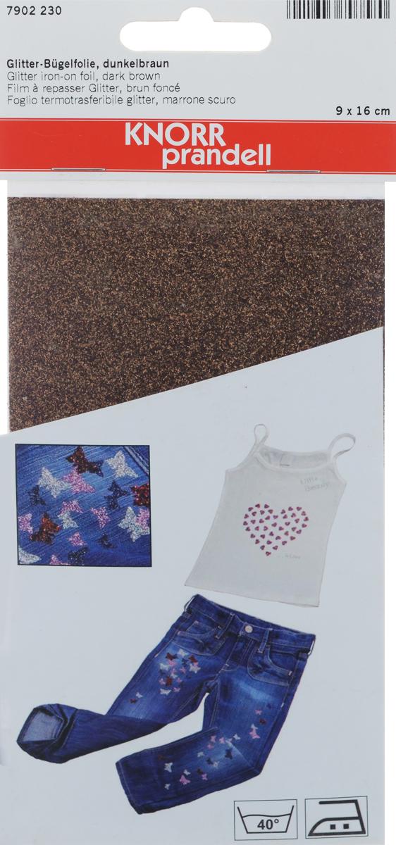 Фольга для декорирования ткани Knorr Prandell, цвет: коричневый, 9 х 16 см2179022-30Фольга Knorr Prandell предназначена для декорирования ткани. Нужно просто создать необходимый узор и нанести на ткань с помощью утюга. Также фольга может использоваться для украшения картонных коробок и металлических или деревянных изделий. Можно стирать при температуре до 40°С.